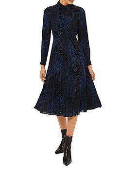 HOBBS LONDON - Adalyn Printed Belted Shirt Dress
