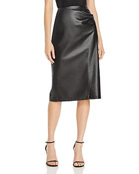 BOSS - Valedy Vegan Leather Skirt