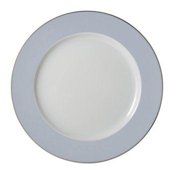 "Bernardaud - ""Dune Blue"" Dinner Plate"