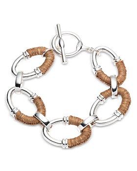 Ralph Lauren - Raffia-Wrapped Oval Link Bracelet