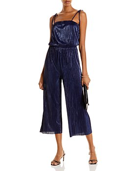 AQUA - Cropped Shine Jumpsuit