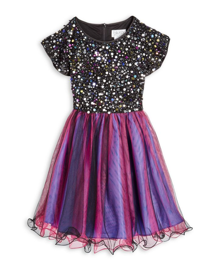 US Angels Girls' Sequin Bodice Dress - Big Kid    Bloomingdale's