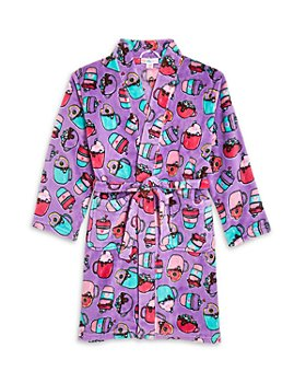 Candy Pink - Girls' Hot Chocolate Print Robe - Big Kid