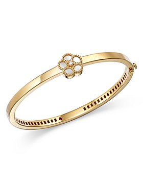 Roberto Coin - 18K Yellow Gold Diamond & Mother of Pearl Bangle Bracelet - 100% Exclusive
