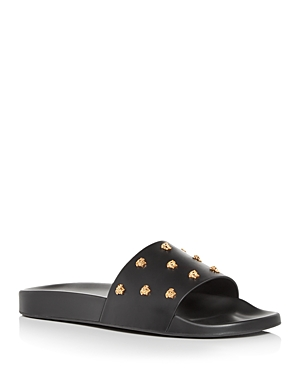 Versace MEN'S EMBELLISHED SLIDE SANDALS