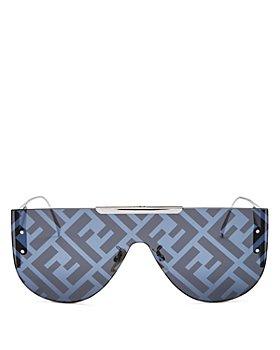 Fendi - Unisex Shield Aviator Sunglasses, 99mm