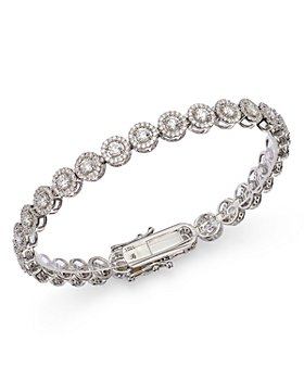 Bloomingdale's - Diamond Halo Tennis Bracelet in 14K White Gold, 4.0 ct. t.w. - 100% Exclusive