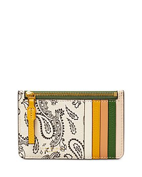 Tory Burch - Perry Printed Leather Top Zip Card Case