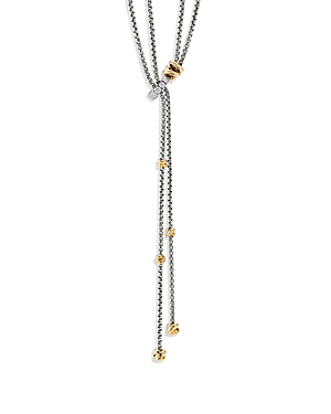 David Yurman STERLING SILVER PETITE HELENA Y NECKLACE WITH 18K YELLOW GOLD & DIAMONDS, 50