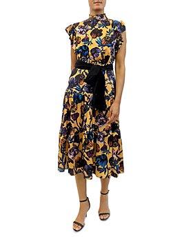 Sam Edelman - Floral Print Midi Dress