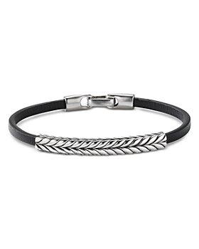 David Yurman - Chevron Leather ID Bracelet