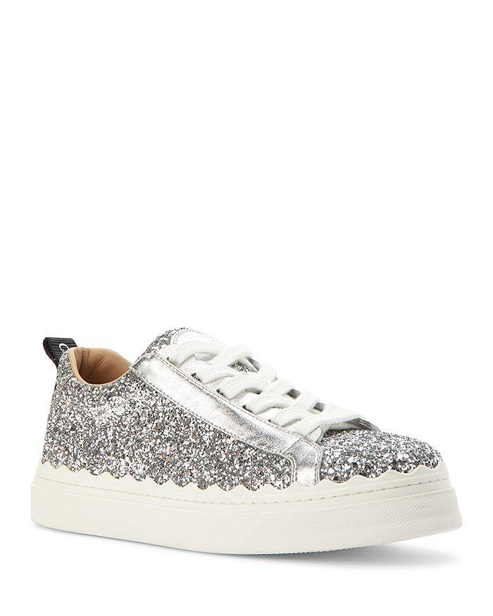Chloé - Women's Lauren Glitter Low Top Sneakers