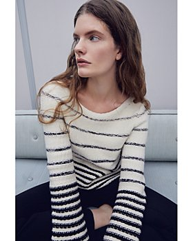 Theory - Variegated Stripe Wool & Cashmere Sweater