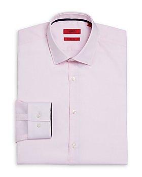 HUGO - Koey Cotton Micro Check Slim Fit Dress Shirt