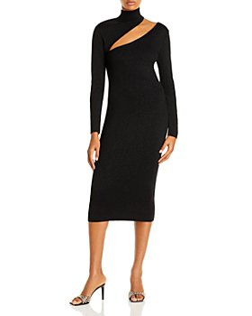 AQUA - Cutout Turtleneck Midi Dress - 100% Exclusive