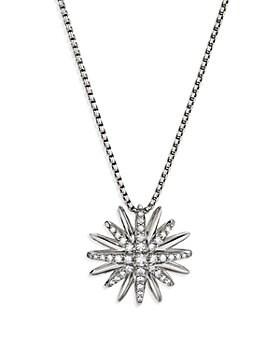 David Yurman - Sterling Silver Diamond Starburst Pendant