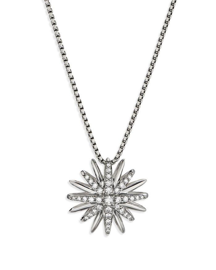 David Yurman Sterling Silver Diamond Starburst Pendant    Bloomingdale's