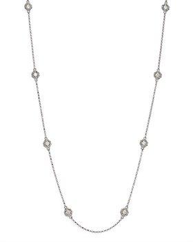 "Roberto Coin - 18K White Gold New Barocco Diamond Statement Necklace, 16-18"""