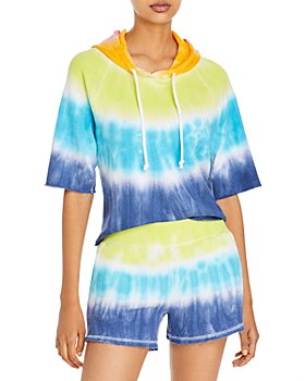 CHASER - Tie Dyed Short Sleeve Hoodie