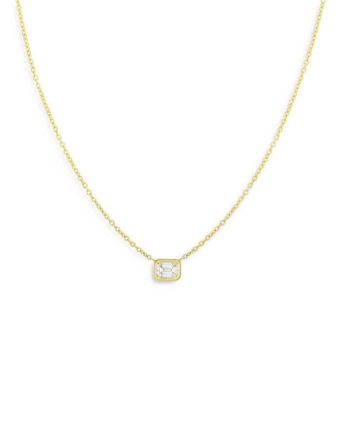 "Roberto Coin - 18K Yellow Gold Tiny Treasure Diamond Pendant Necklace, 18"""