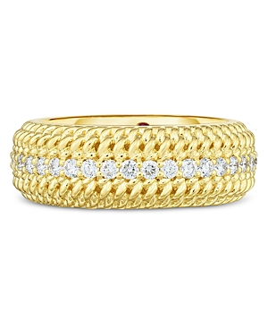 Roberto Coin 18K Yellow Gold Opera Diamond Statement Ring