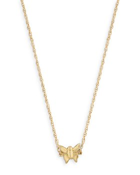 """Moon & Meadow - 14K Yellow Gold Butterfly Pendant Necklace, 18"""""""