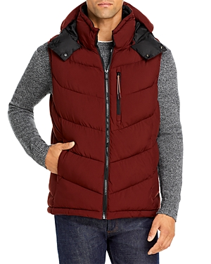 Scotch & Soda Quilted Vest With Detachable Hood-Men
