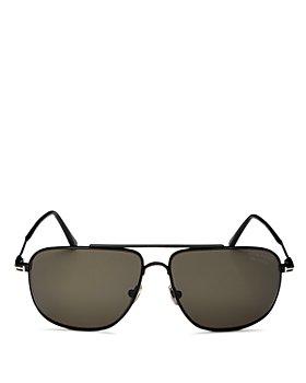 Tom Ford - Men's Polarized Brow Bar Aviator Sunglasses, 58mm