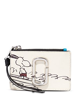 MARC JACOBS - Peanuts Top Zip Leather Multi Card Case