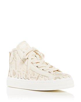 Chloé - Women's Lauren Lace Mid Top Sneakers