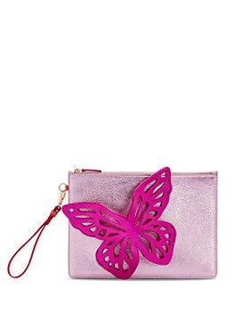 Sophia Webster - Flossy Butterfly Leather Wristlet