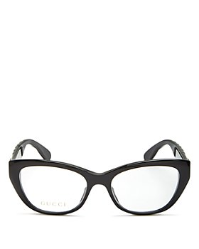 Gucci - Womens Cat Eye Clear Glasses, 52mm