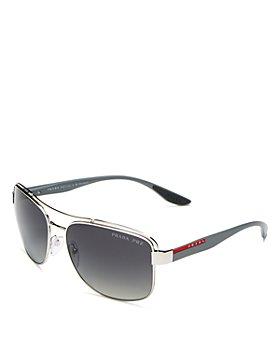 Prada - Men's Brow Bar Polarized Aviator Sunglasses, 61mm