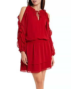 1.STATE - Ruffled Cold Shoulder Dress
