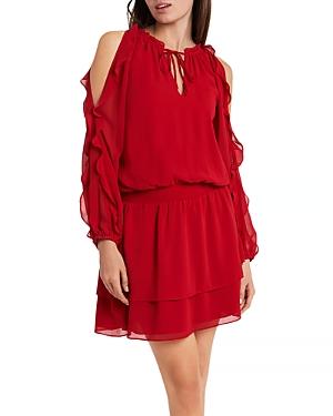 1.state Dresses RUFFLED COLD SHOULDER DRESS
