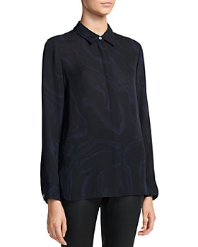 Theory - Printed Point Collar Shirt
