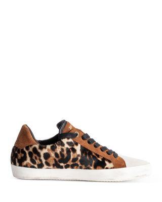 Zadig & Voltaire Women's Used Leopard Print Faux Calf Hair & Suede Low Top Sneakers  | Bloomingdale's