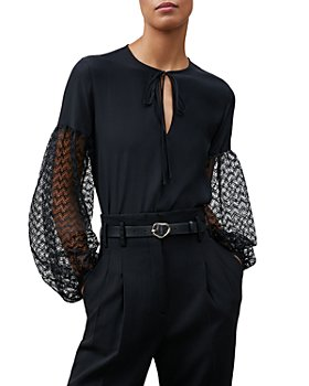 Lafayette 148 New York - Val Lace Sleeve Blouse