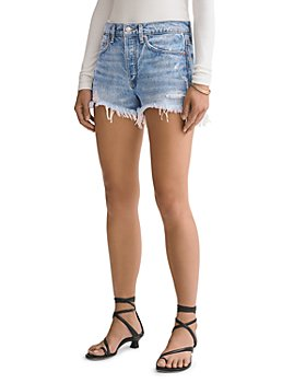 AGOLDE - Parker Vintage Cutoff Denim Shorts in Swapmeet Dark