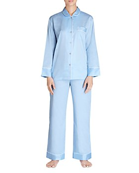 Natori - Cotton Satin Notch Pajama Set