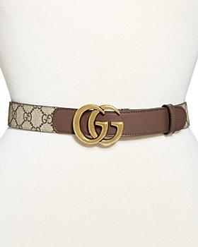 Gucci - Women's Double G Buckle GG Supreme Belt