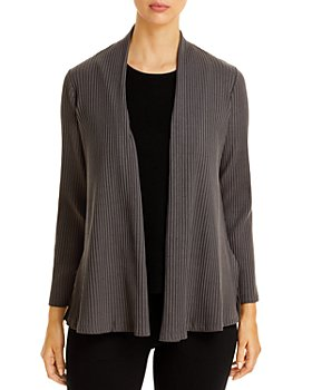 Eileen Fisher Petites - Ribbed Open Jacket