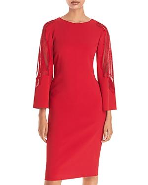 Alberta Ferretti Lace Inset Sheath Dress-Women