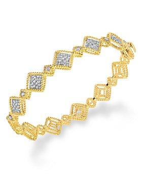 Roberto Coin - 18K Yellow Gold Roman Barocco Diamond Bangle Bracelet