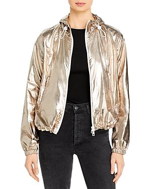 Moncler Eschamali Hooded Metallic Jacket
