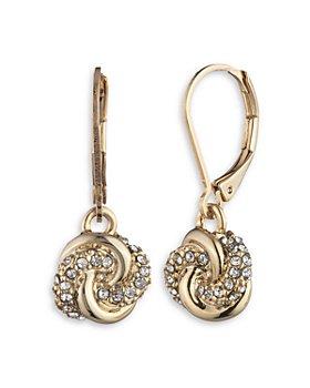 Ralph Lauren - Pave Knot Drop Earrings