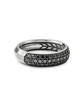 David Yurman - Pavé Band Ring with Black Diamonds