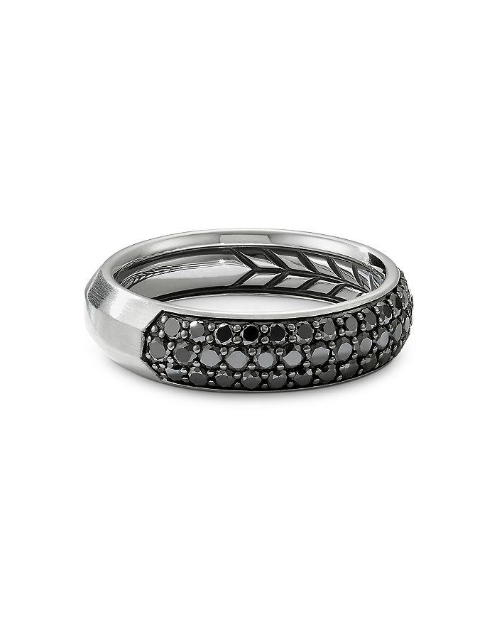 David Yurman - Pavé Band Ring with Black Diamonds