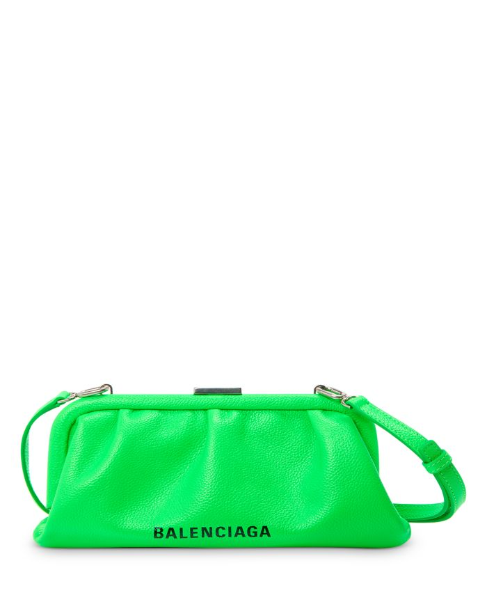 Balenciaga Cloud XS Leather Clutch    Bloomingdale's