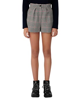 Maje - Ioldita Checkered Shorts